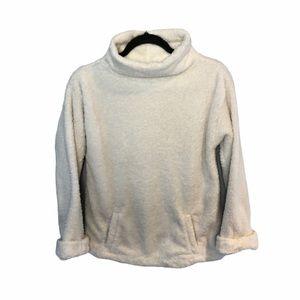 GAP Beige Cowl Neck Sherpa Sweater